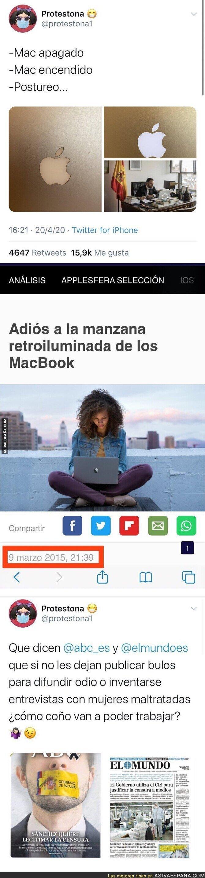 145552 - ¿Está Santiago Abascal trabajando con el ordenador apagado? Aquí la realidad de esta polémica imagen
