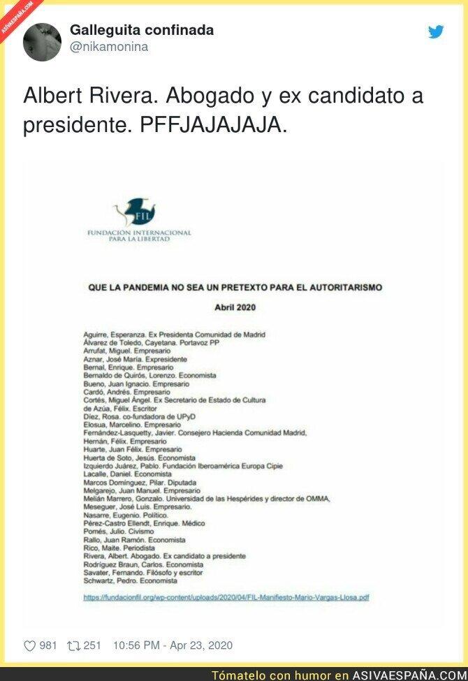 146046 - Ex candidato a presidente. El chiste se cuenta solo