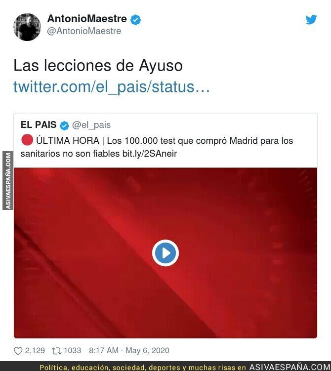 147861 - Isabel Díaz Ayuso también compra test que no funcionan bien