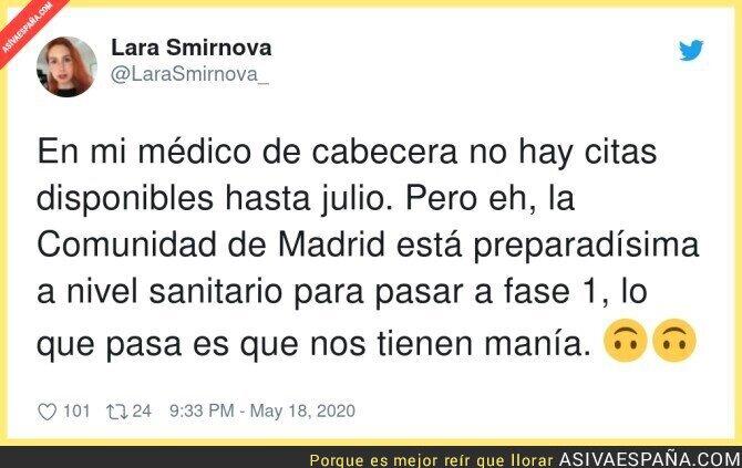 165518 - Los centros de salud siguen cerrados en Madrid