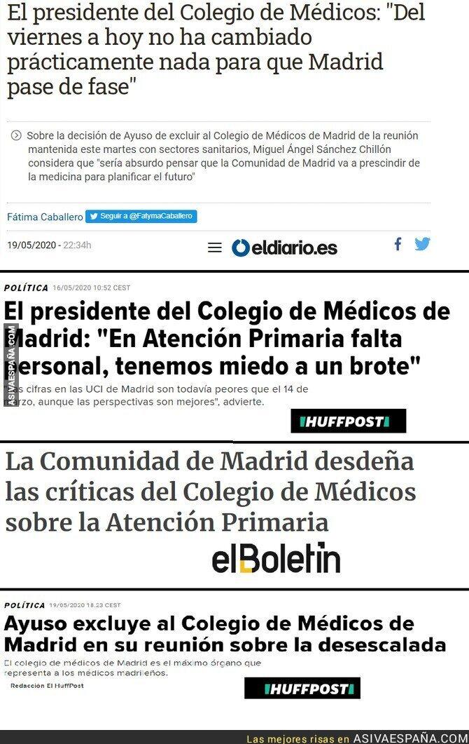 169031 - Noticias que se entienden mejor juntas sobre la gestión en Madrid del coronavirus