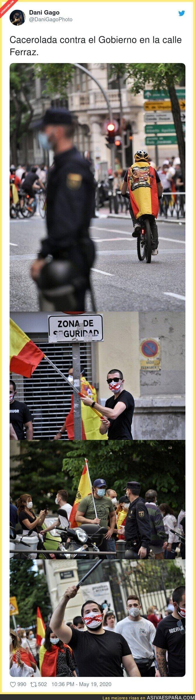 169058 - Todas estas imágenes dejan claro que las manifestaciones de las caceroladas están infestadas de fascistas
