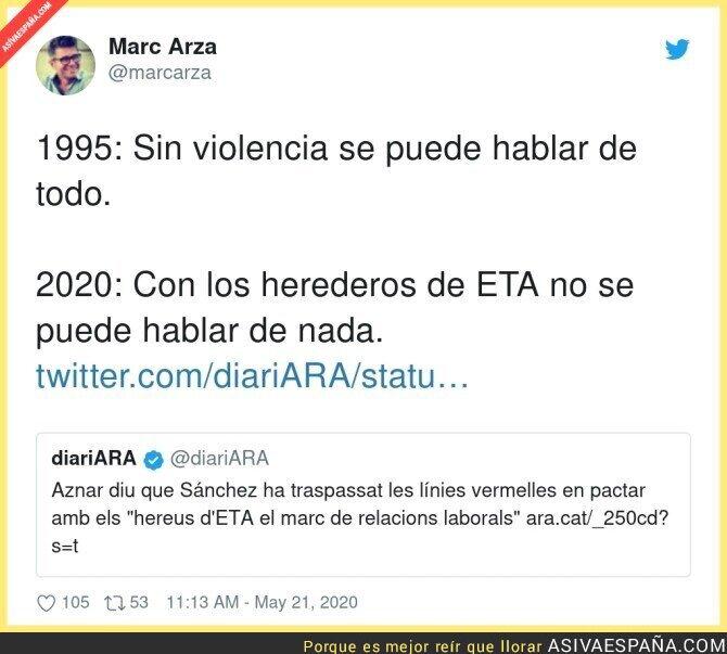 171360 - Así ha cambiado el discurso de Aznar