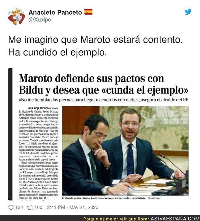 171795 - Maroto está feliz con el pacto PSOE-UP-Bildu