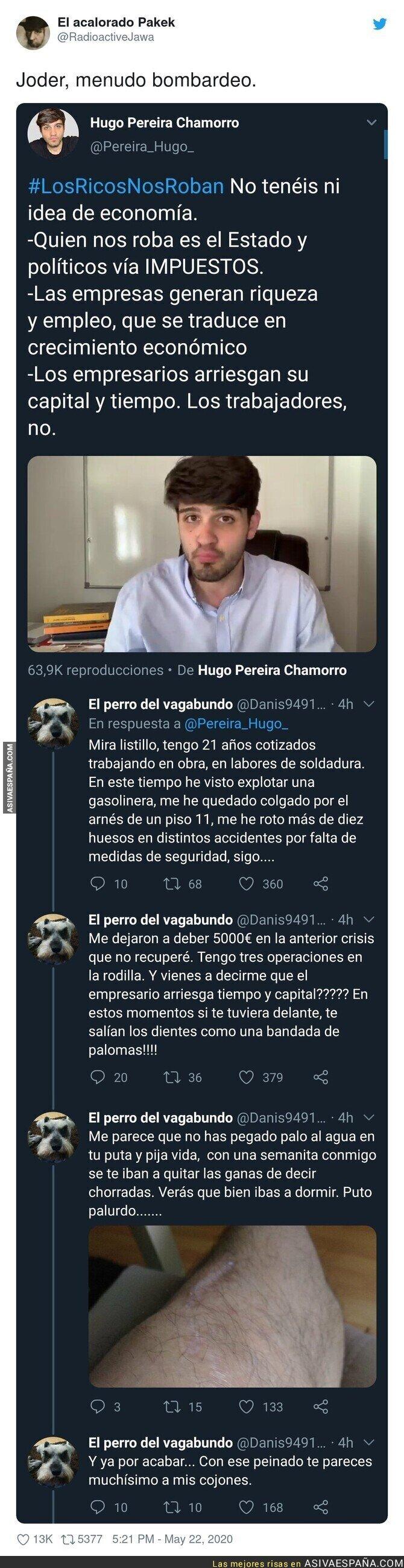 175048 - Menudo repaso le dan a Hugo Pereira después de este tuit tan lamentable
