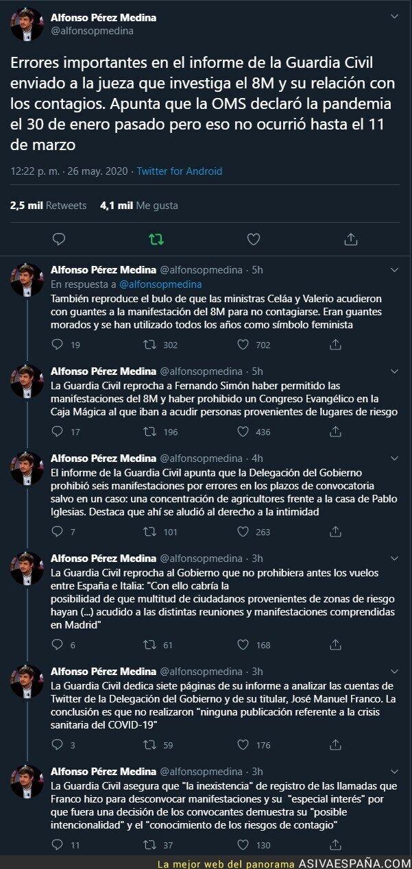184102 - Sale al descubierto la manipulación increíble del polémico informe de la Guardia Civil para inculpar al Gobierno y a Fernando Simón