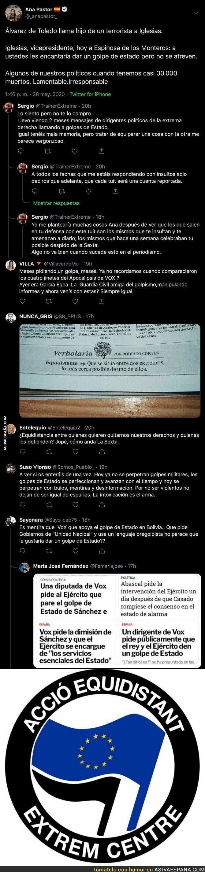 188367 - La periodista Ana Pastor se gana el aplauso de los votantes de VOX con este mensaje equidistante total