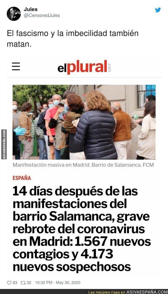 193376 - Liada total en el Barrio Salamanca tras las protestas