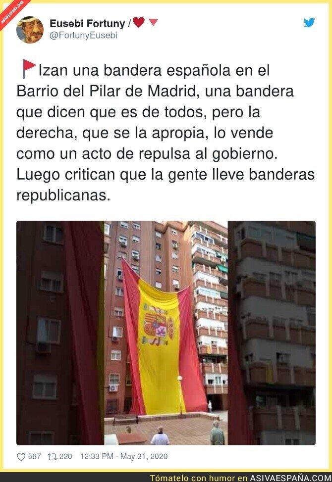 194702 - Los que han izado esa bandera, son muy españoles y mucho españoles