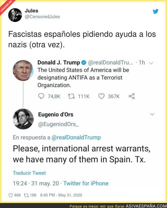 195513 - Fascista español pidiendo ayuda a Trump