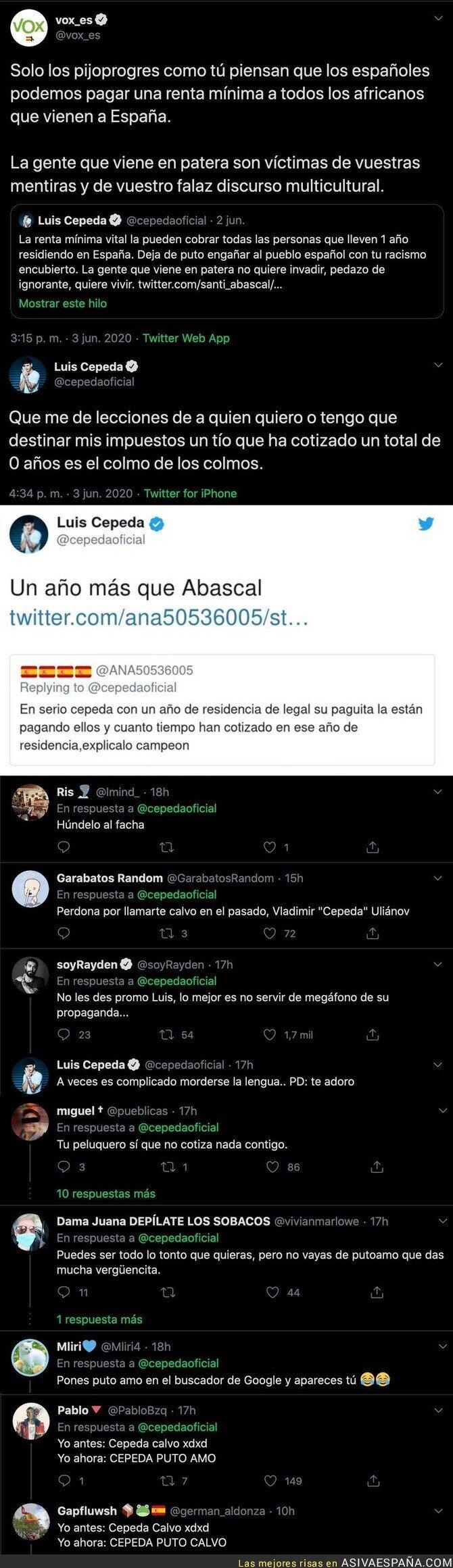 202911 - Cepeda se gana el aplauso de todo Twitter con estos hachazos antológicos a VOX y Santiago Abascal