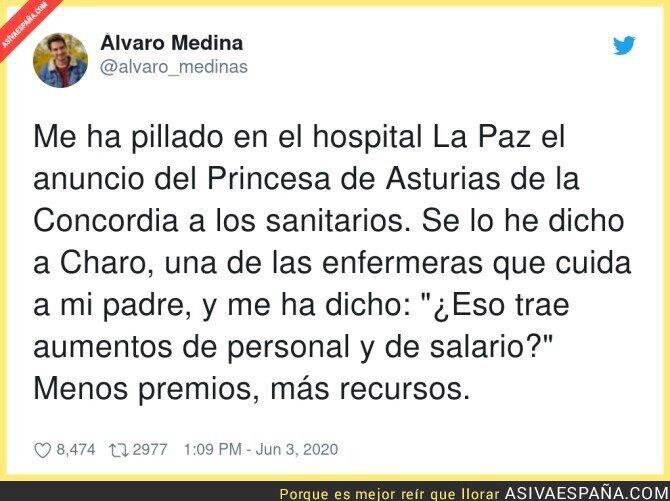 203865 - Los sanitarios quieren más que un Premio Princesa de Asturias