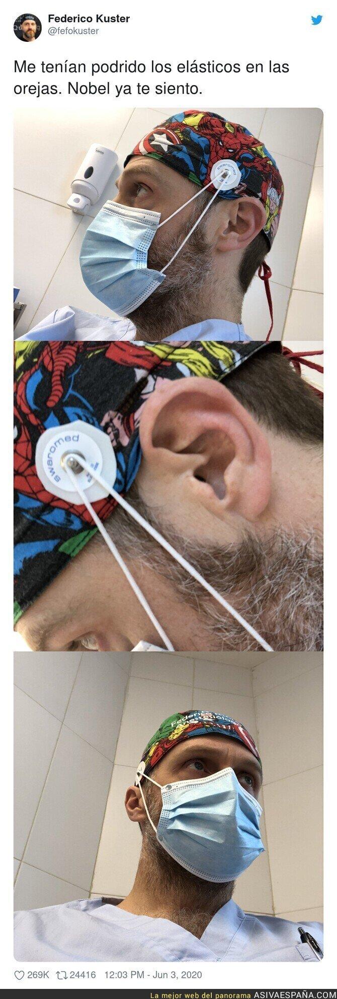 204219 - Este sanitario ha hecho un invento revolucionario para las mascarillas