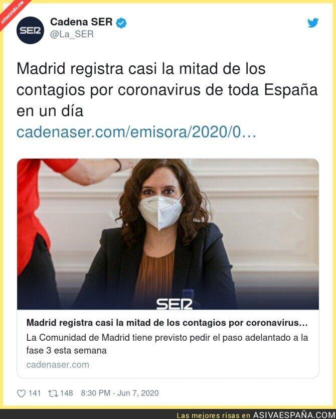 211355 - La irresponsabilidad de Madrid nos va a llevar a la catástrofe a todos