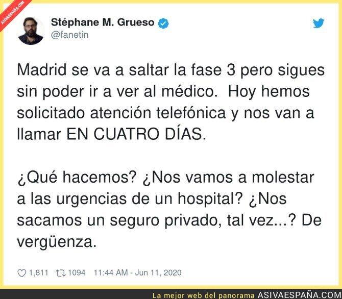 219501 - Madrid no ha mejorado nada y pasarán a la Nueva Normalidad al mismo ritmo que todos