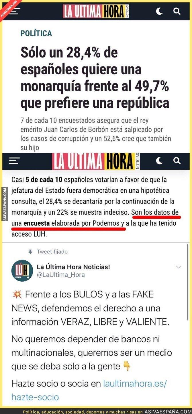 220145 - El nuevo diario de Pablo Iglesias es el hazmerreír de España al hacer noticia sobre esta encuesta