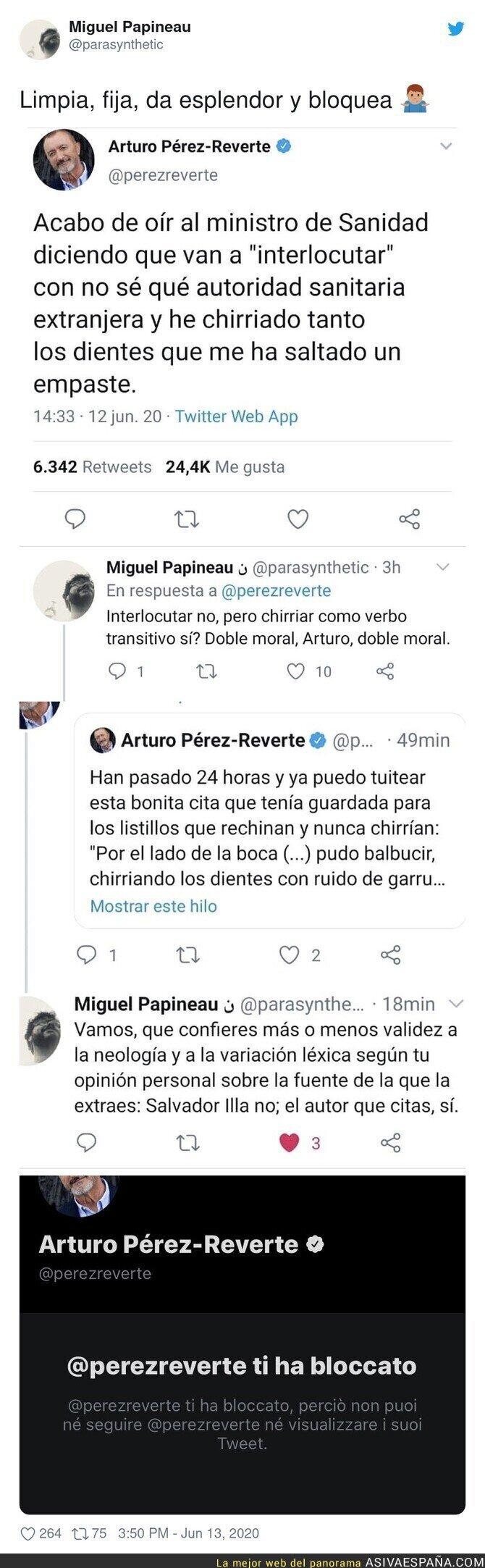 222076 - A Artúro Pérez-Reverte no le gusta que le digan las verdades a la cara