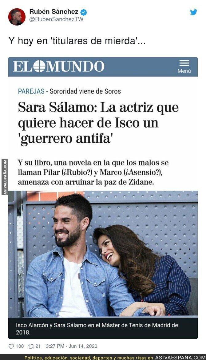 223516 - 'El Mundo' lanza a los leones a Sara Sálamo
