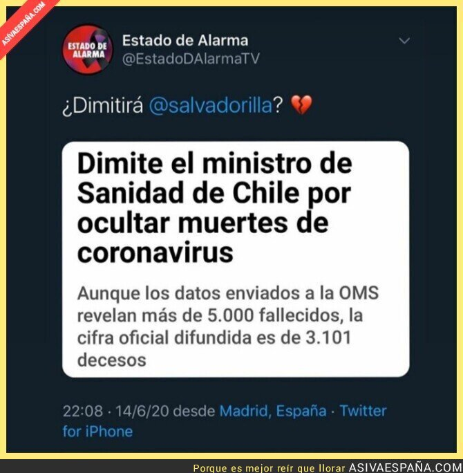 224538 - En Chile dimite el ministro de Sanidad