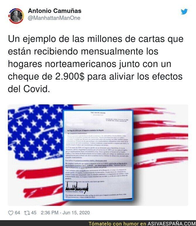 225059 - El cheque que están recibiendo los norteamericanos para combatir al covid19