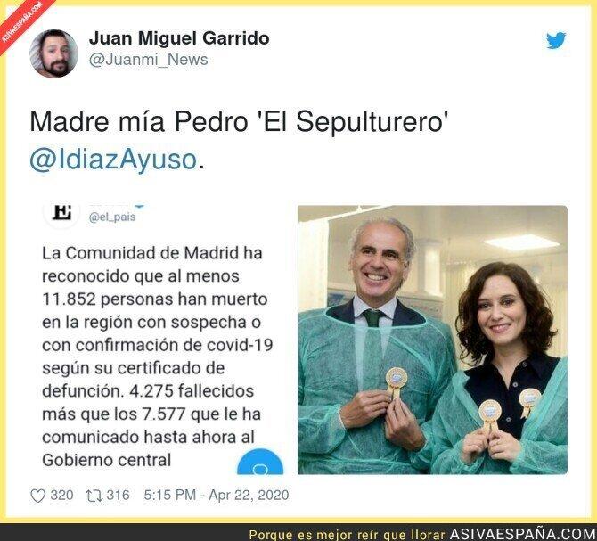 230576 - Los sepultureros de la Comunidad de Madrid con los ancianos