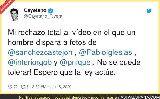 230951 - Cayetano Rivera en contra del fusilamiento a políticos en fotos