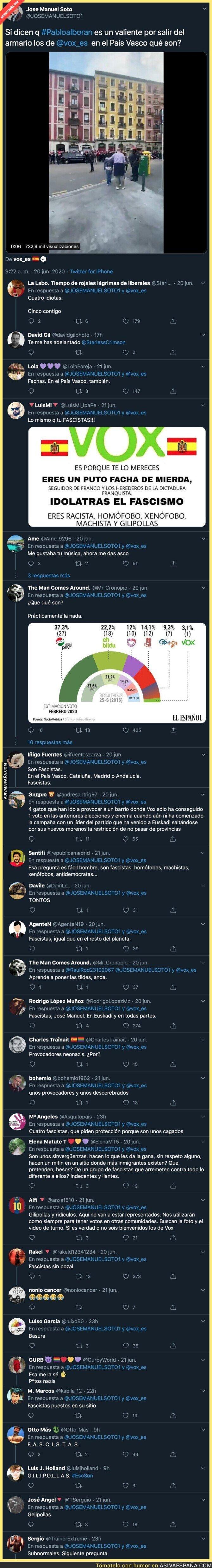 236492 - José Manuel Soto compara a Pablo Alborán con VOX en su visita al País Vasco y la gente le deja bien caliente en las respuestas