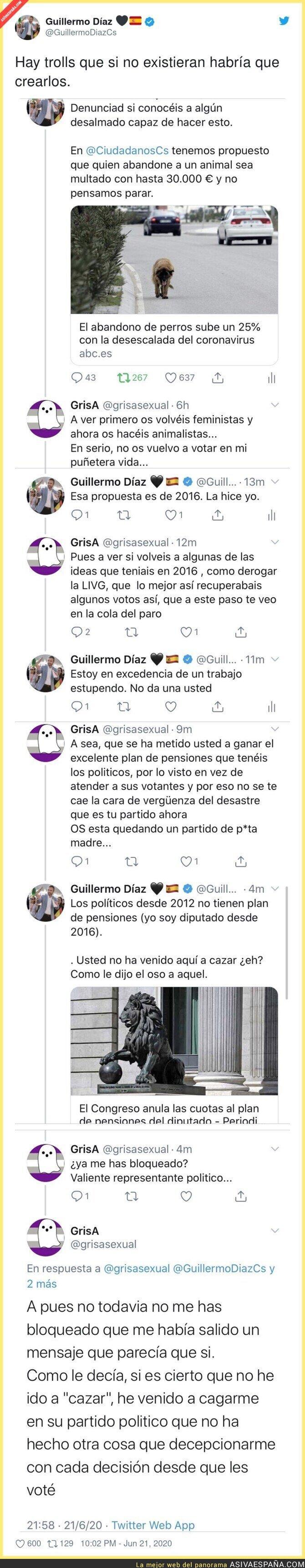 236802 - Este ex-votante de Ciudadanos intenta trolear a uno de sus dirigentes y sale totalmente escaldado
