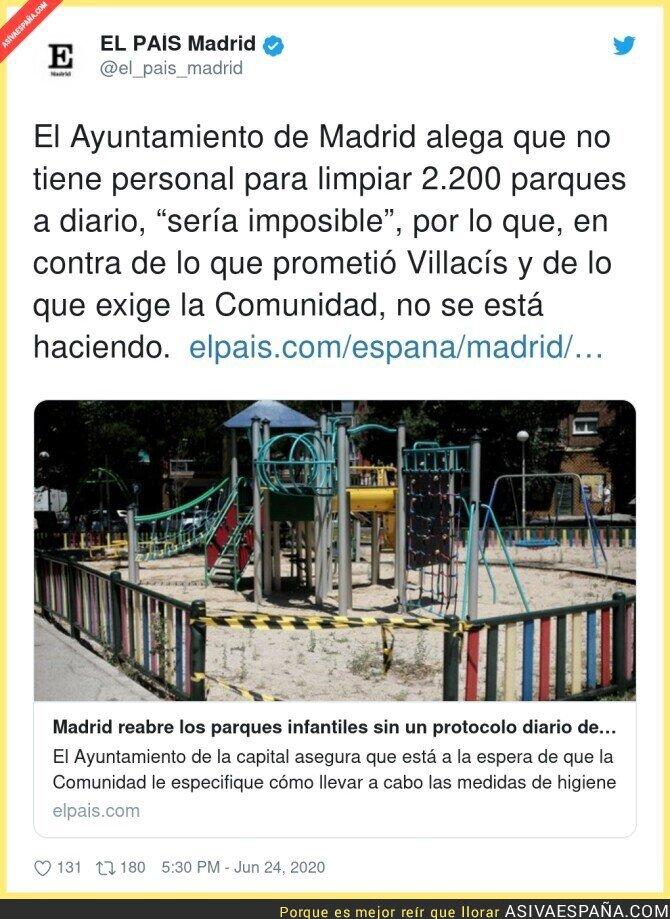 240580 - Madrid no puede limpiar todos los parques