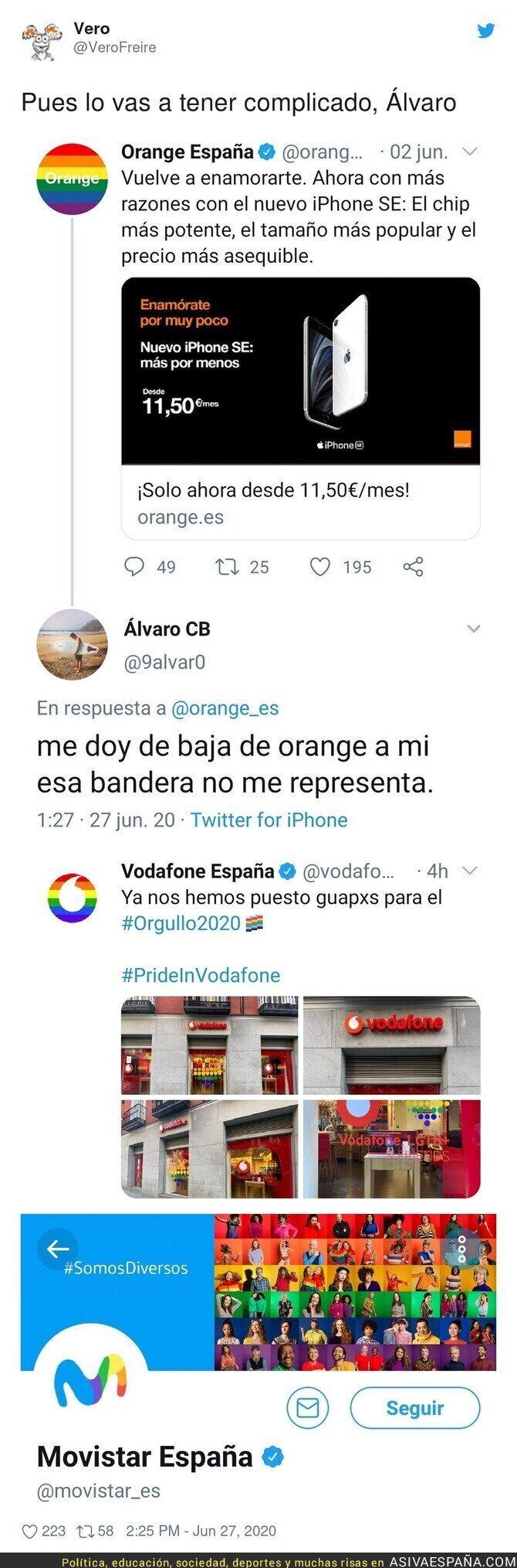 245121 - La historia de como Álvaro de Twitter se queda sin telecomunicaciones en España porque no le gustaba la bandera LGTB