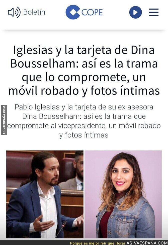 248788 - El lío de Pablo Iglesias con Dina Bousselham