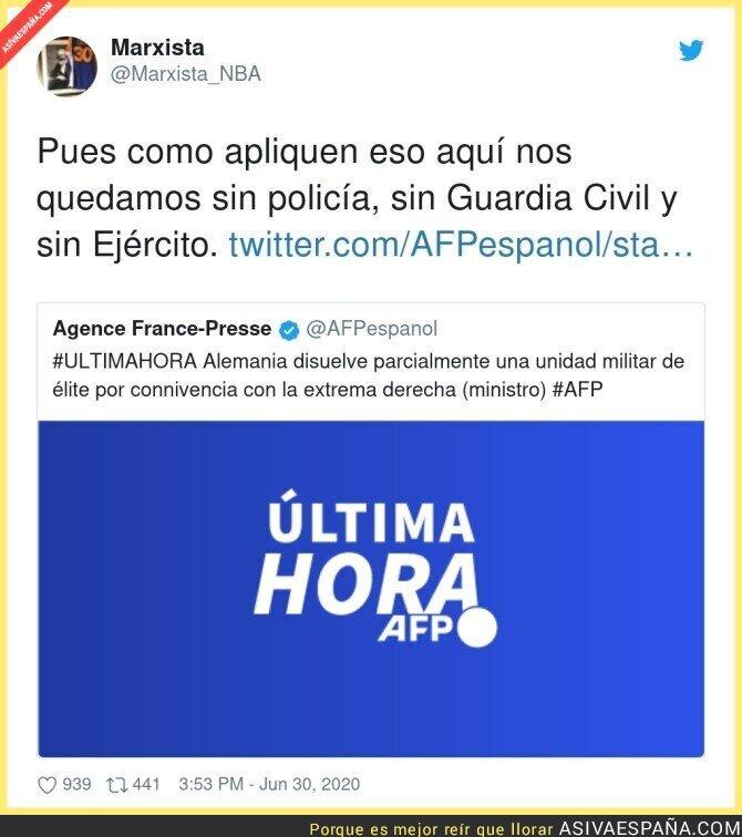 249513 - Peligro para las fuerzas armadas en España