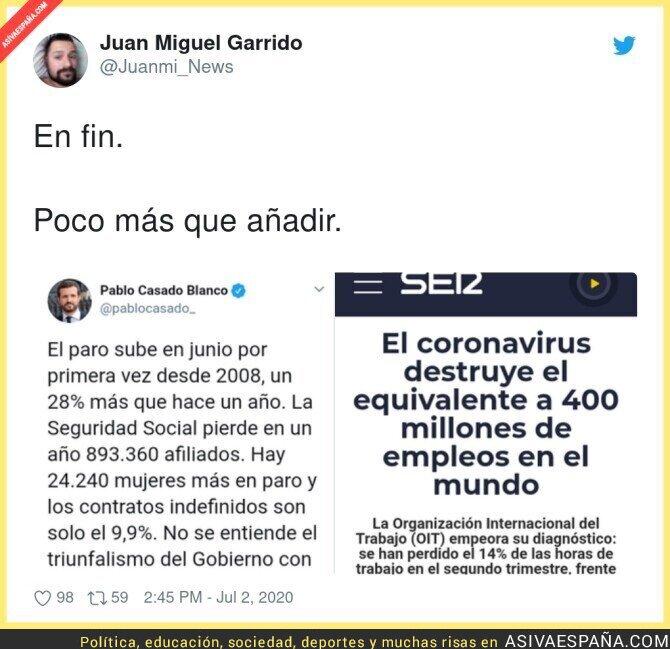 252555 - Pablo Casado no se ha enterado que estamos en mitad de una pandemia