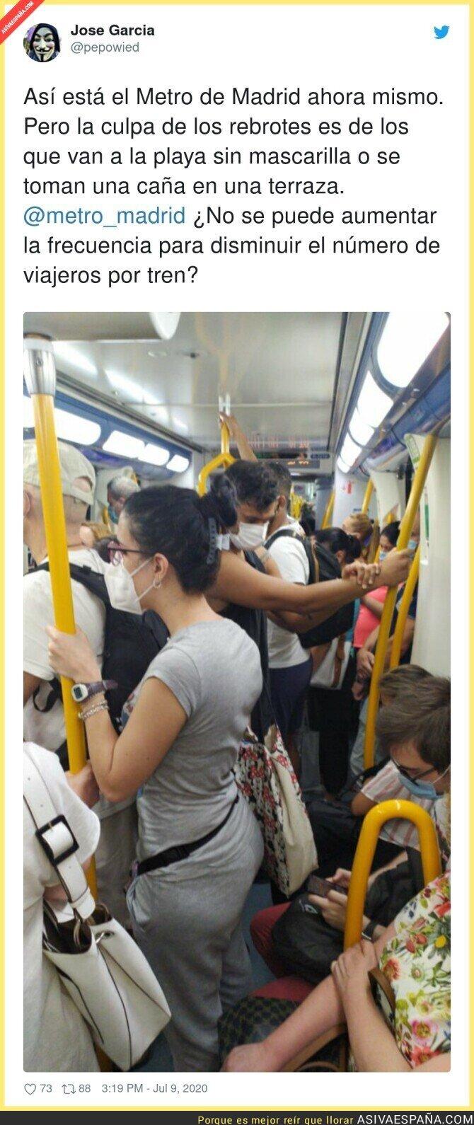264210 - Aumentar la frecuencia, dice. ¿Y que la gente vaya cómoda y espaciada?