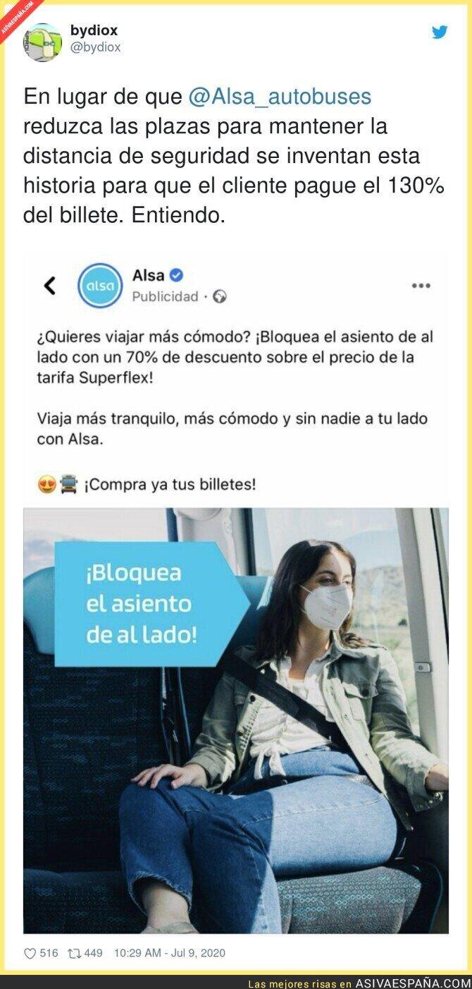 264482 - El polémico invento de Alsa para conservar el distanciamiento social en sus autobuses y que pagues más