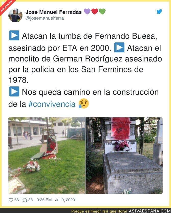 264762 - Triste imagen de la tumba de Fernando Buesa