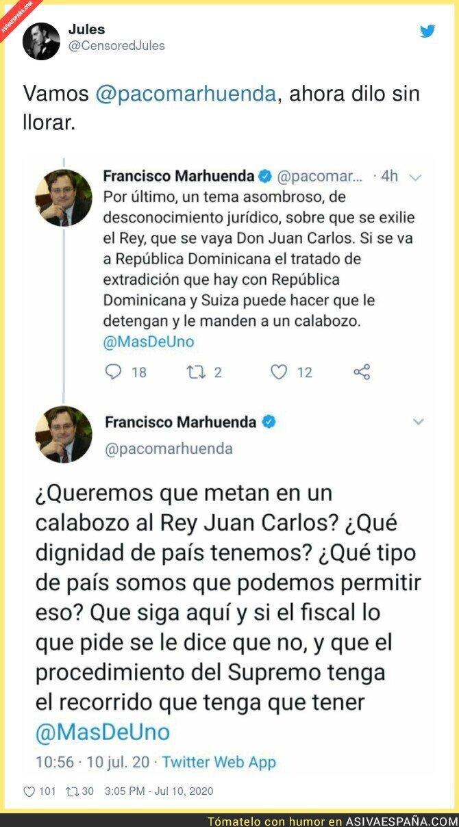 265572 - Francisco Marhuenda defendiendo a Juan Carlos aunque haya cometido un delito (o varios)