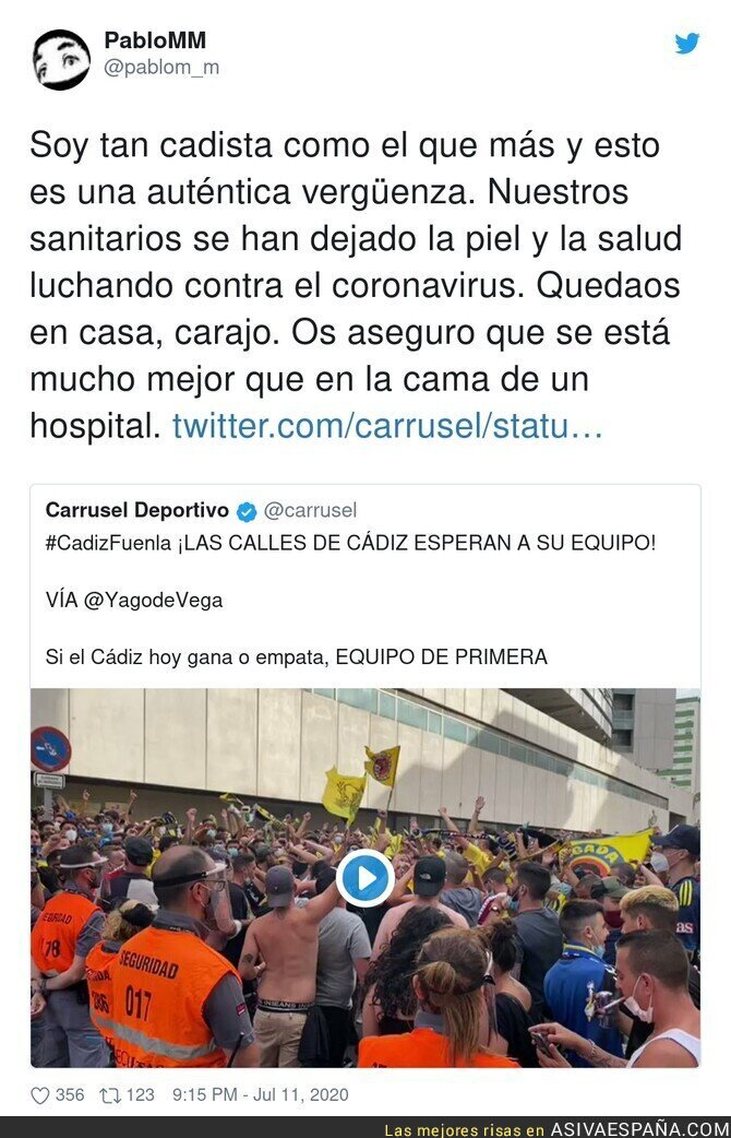 267505 - Cádiz no da ejemplo en mitad de una pandemia