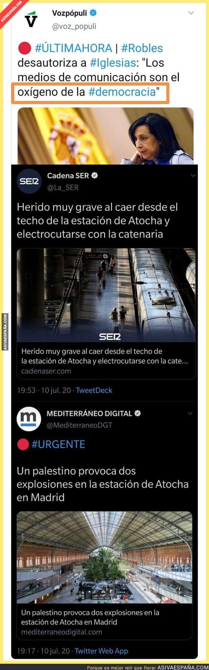 267766 - Lo de 'Mediterráneo Digital' es terrorismo informativo