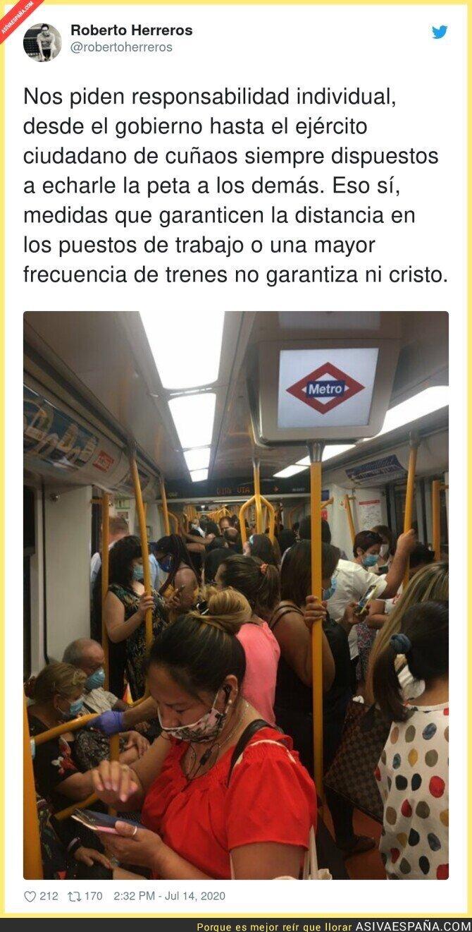 272254 - Así está el Metro de Madrid a cada instante y nadie hace nada