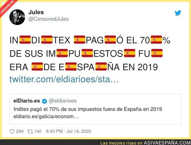 272461 - ¡El salvador de Amancio Ortega pagó solo el 30% de sus impuestos en España! ¡BRAVO POR ÉL! ¡CRACK! ¡MASTODONTE!