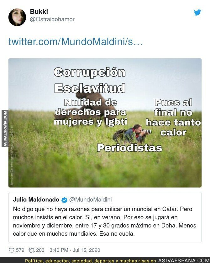 273792 - Julio Maldonado intentando blanquear el Mundial de Qatar
