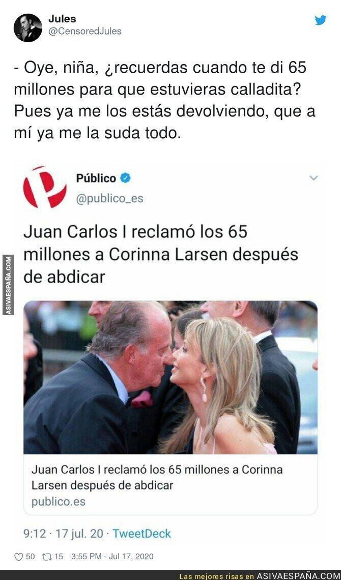 276711 - La cara dura de Juan Carlos I no tiene límites