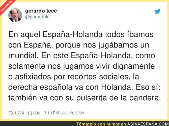 278283 - Los patriotas españoles sacando la patita contra España