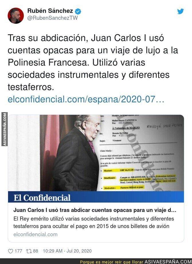 280163 - ¿Pero Juan Carlos I ha pagado algo con su dinero?