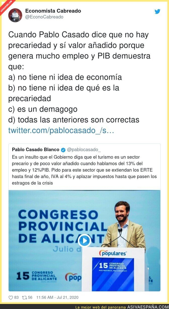 281949 - Este es el nivel de Pablo Casado
