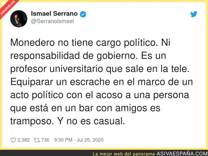 287920 - El acoso y derribo que sufre Juan Carlos Monedero