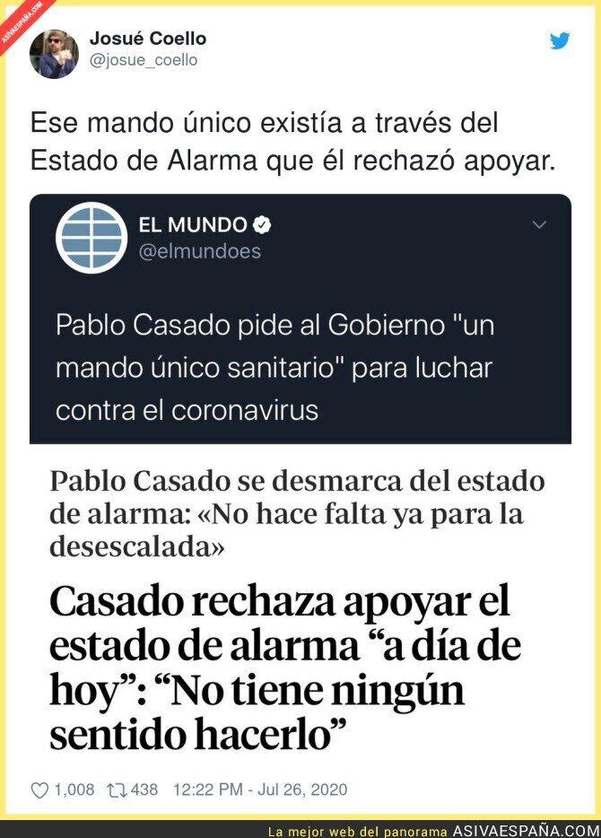 288377 - Pablo Casado reclama lo que él mismo votó en contra