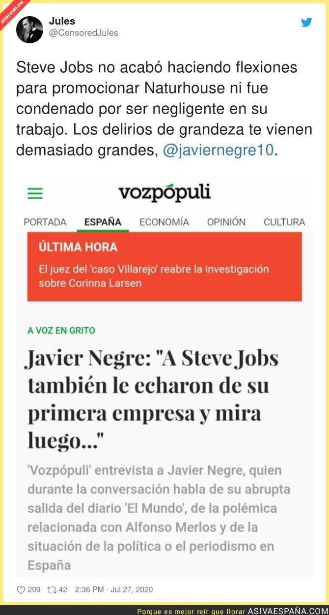 290079 - Javier Negre comparándose con Steve Jobs es lo que le faltaba al 2020