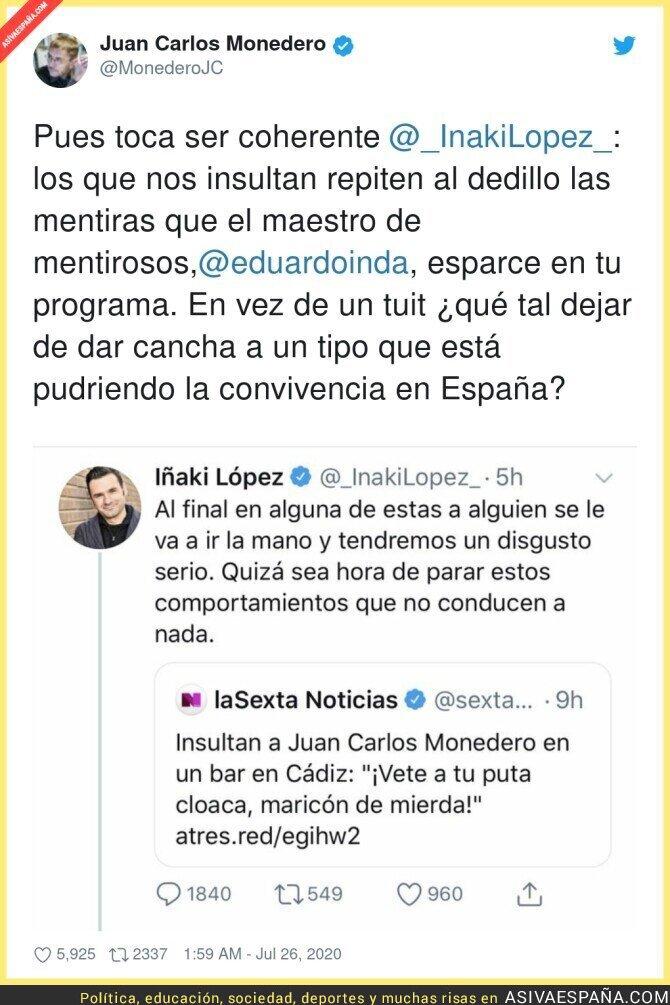 290568 - Juan Carlos Monedero le dice una gran verdad a Iñaki López